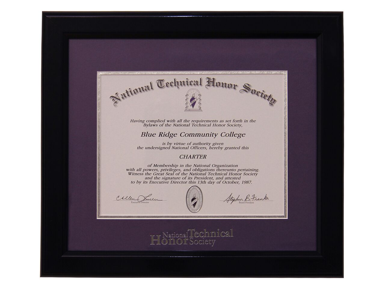 Deluxe Certificate Frame Nths